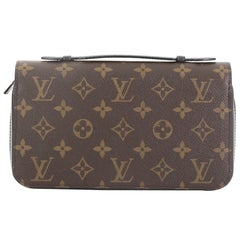 Louis Vuitton Zippy Wallet Macassar Monogram Canvas XL