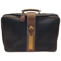 Gucci Brown and Tan Vintage Leather Medium Luggage