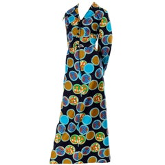 Dynasty Vintage Maxi Dress in Colorful Medallion Print With Pockets