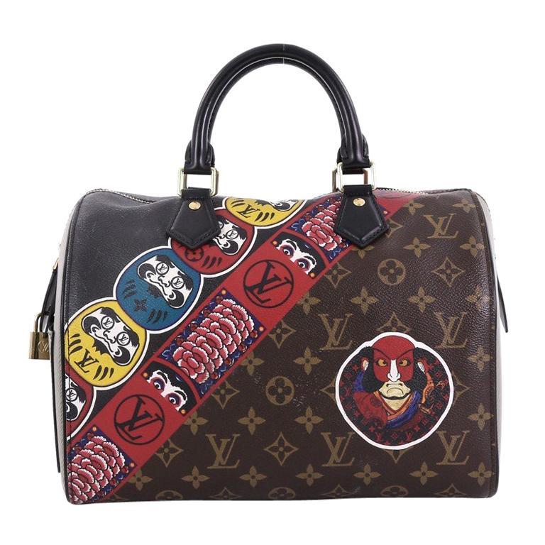 b69667334206c Louis Vuitton Speedy Handbag Limited Edition Kabuki Monogram Canvas 30 For  Sale at 1stdibs