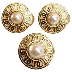 Christian Dior Pearl Logo Demi Parure