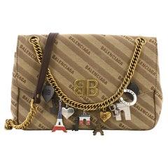 e16169734e Balenciaga BB Chain Round Charms Shoulder Bag Jacquard Small