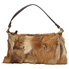Fendi Brown Fur Baguette