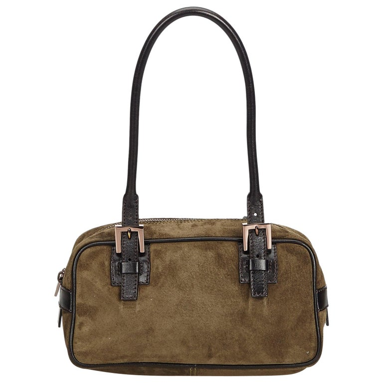 15b9a44a Fendi Brown Suede Shoulder Bag