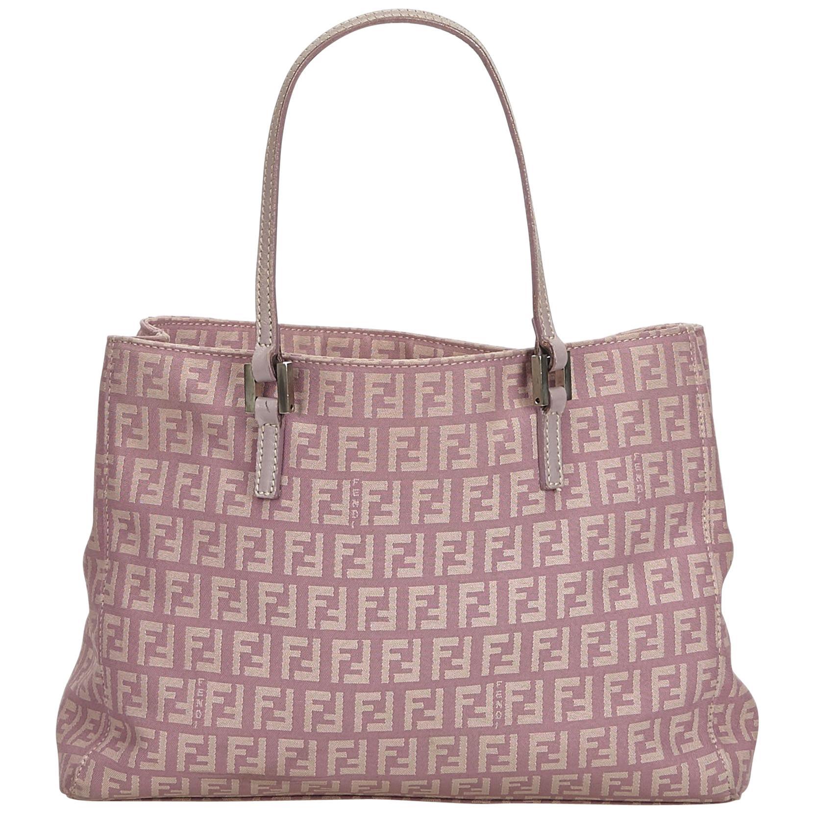3d4aed173db5 Fendi pink zucchino canvas tote bag at stdibs jpg 768x768 Fendi canvas bag