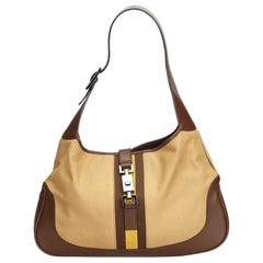 Gucci Brown Jackie Canvas Shoulder Bag