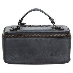 Balenciaga Black Leather Vanity Box