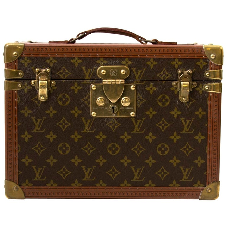 Louis Vuitton Monogram Travel Trunk Case For Sale
