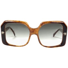 Vintage Pierre Cardin Tortoise Medium Gradient Lens 1960's Sunglasses