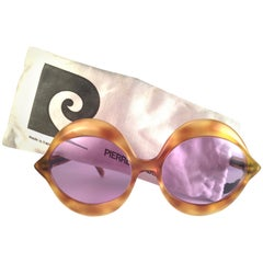 New Vintage Pierre Cardin Kiss Tortoise Rose Lenses Medium C18 1960's Sunglasses