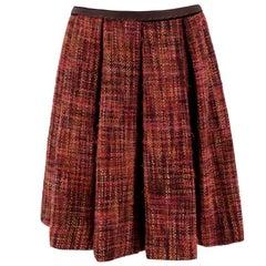 Prada Tweed Pleated Skirt US 0-2