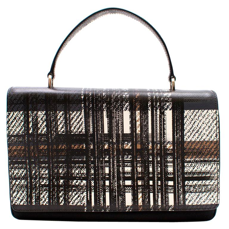 Prada Printed Top Handle Bag For Sale