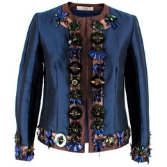 Prada Embellished Silk & Wool Jacket US 4