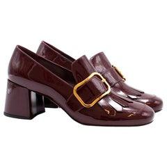 Prada Patent Heeled Loafers US 9