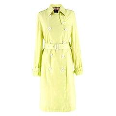 Burberry Neon Green Trench Coat US 0-2
