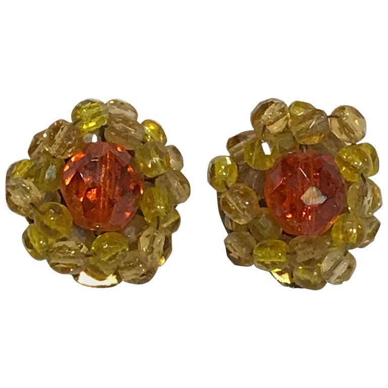 Coppola e Toppo Crystal  Earrings For Sale