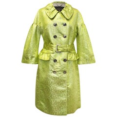 Burberry Yellow and Gold Coat US 10