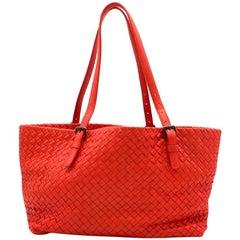 1df969a5d59e Bottega Veneta Extra Large Orange Intrecciato Nappa Tote Bag and ...