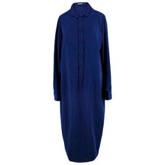 Bottega Veneta Navy Oversize Shirt Dress - Size US 6