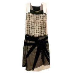 Bottega Veneta Black & Champagne Dress US 8
