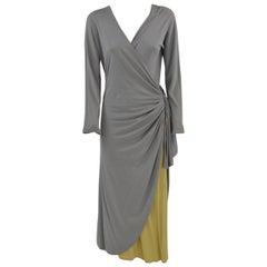 2000s Callaghan Grey Wrap Dress