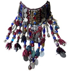 Vintage Ethnic Necklace with Vintage Turkish Coins, Tassels and Elements