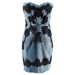 Dolce & Gabbana Denim & Lace Mini Dress US 0-2
