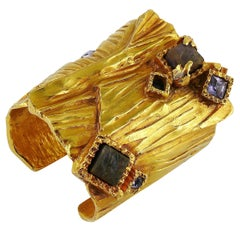 Yves Saint Laurent Massive Jewelled Arty Cuff Bracelet