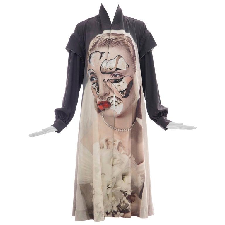 Undercover Jun Takahashi Collage Artist Matthieu Bourel Print Coat, Fall 2016 For Sale