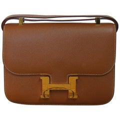 Hermes Constance 24 Shoulder Bag brown/tan epsom leather with gold Hardware