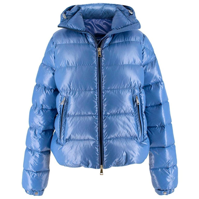 e5c04bc69 Moncler pearl-blue hooded down coat US 4