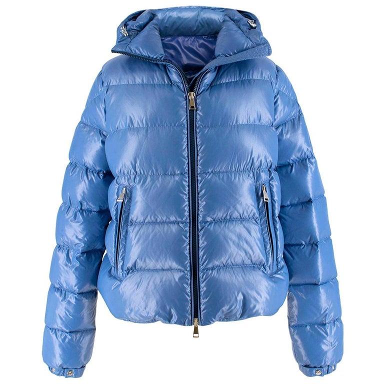 2d09f7efe Moncler pearl-blue hooded down coat US 4