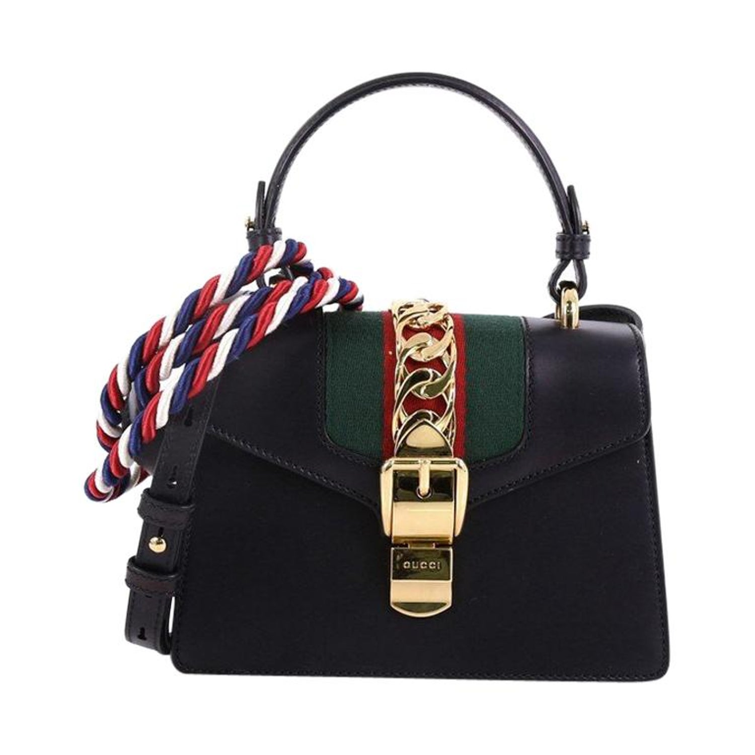 1998fcf31 Gucci Sylvie Top Handle Bag Leather Mini at 1stdibs