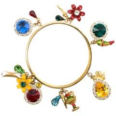Dolce & Gabbana fruit-charm stacked bangle