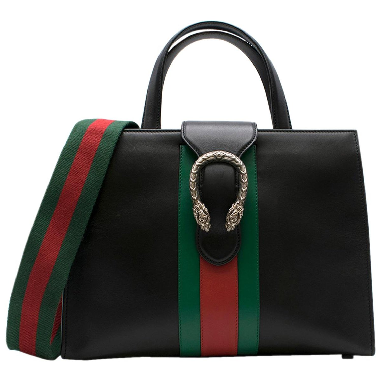a75029730dff Gucci Dionysus Medium Web-striped leather top-handle bag at 1stdibs