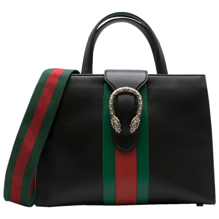 33464af7020 Gucci Dionysus Medium Web-striped leather top-handle bag at 1stdibs