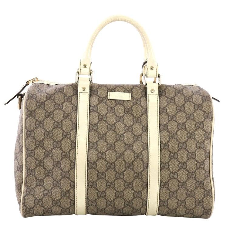 f53feddad2de Gucci Joy Boston Bag GG Coated Canvas Medium at 1stdibs