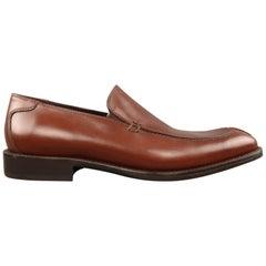 Men's DONALD J PLINER Size 9 Cognac Leather Split Apron Toe Loafers