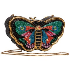 Judith Leiber Butterfly Crystal Minaudiere Bag