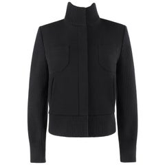 "ALEXANDER McQUEEN A/W 2000 ""Eshu"" Black Wool & Rib Knit Sweater Jacket"