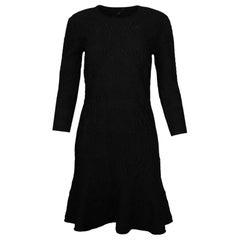 Alexander McQueen NWT Black Brocade Longsleeve Dress Sz XL