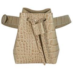 Beige Nanushka Vegan Leather Minee Belt Bag
