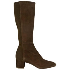 Brown Aquatalia Suede Knee-High Boots