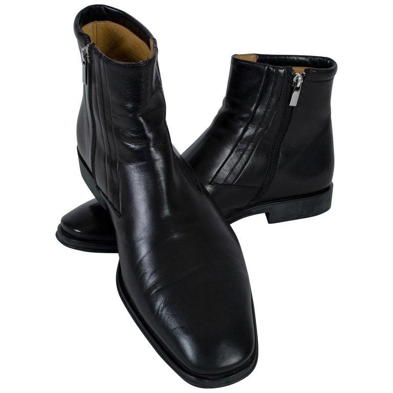 Men's Bruno Magli Raspino Leather Chelsea Boot, 21st Century For Sale