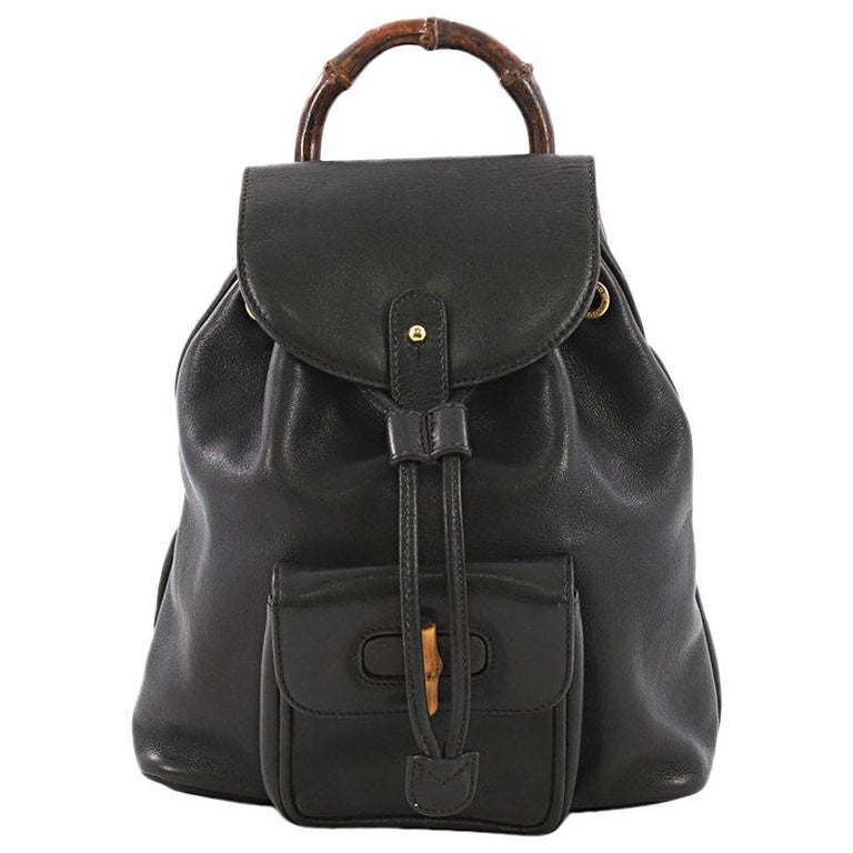 297b9d6bd5d3 Gucci Vintage Bamboo Backpack Leather Mini at 1stdibs