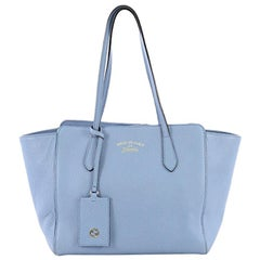 Gucci Swing Tote Leather Small, crafted in blue leather