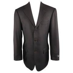 Men's ERMENEGILDO ZEGNA Napoli Couture 38 Navy Wool Notch Lapel Sport Coat