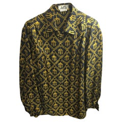 Vintage Hermes Silk Blouse Size 42 French