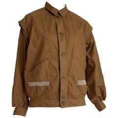 "Daniel HECHTER ""New"" Brown mustard, Net on Pockets, Cotton Jacket - Unworn"