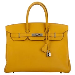 Hermes Birkin 35 Jaune d'or Yellow Min Condition